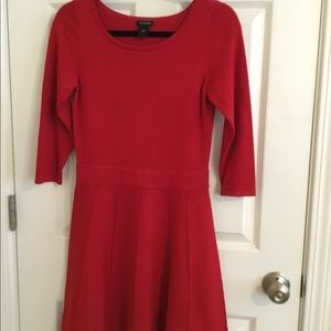 Ann Taylor Factory 3/4 sleeved red dress